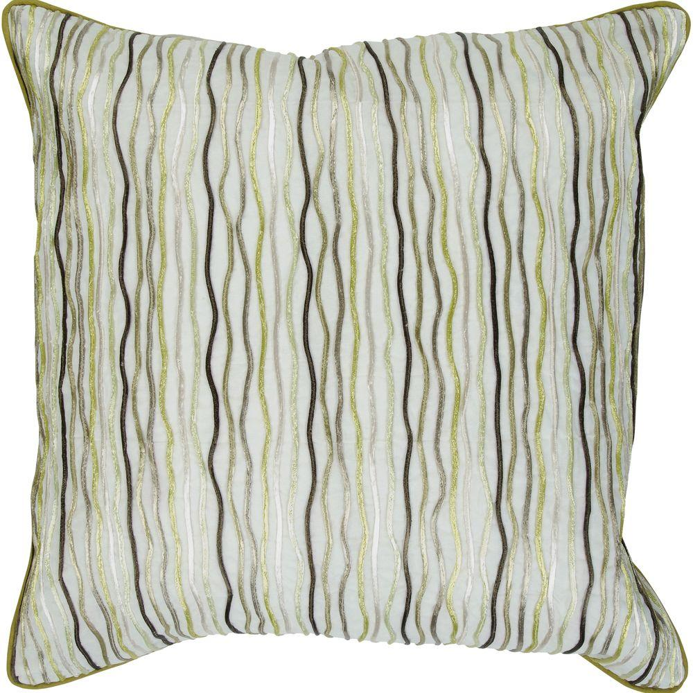 Artistic Weavers Wavy 18 in. x 18 in. Decorative Down Pillow