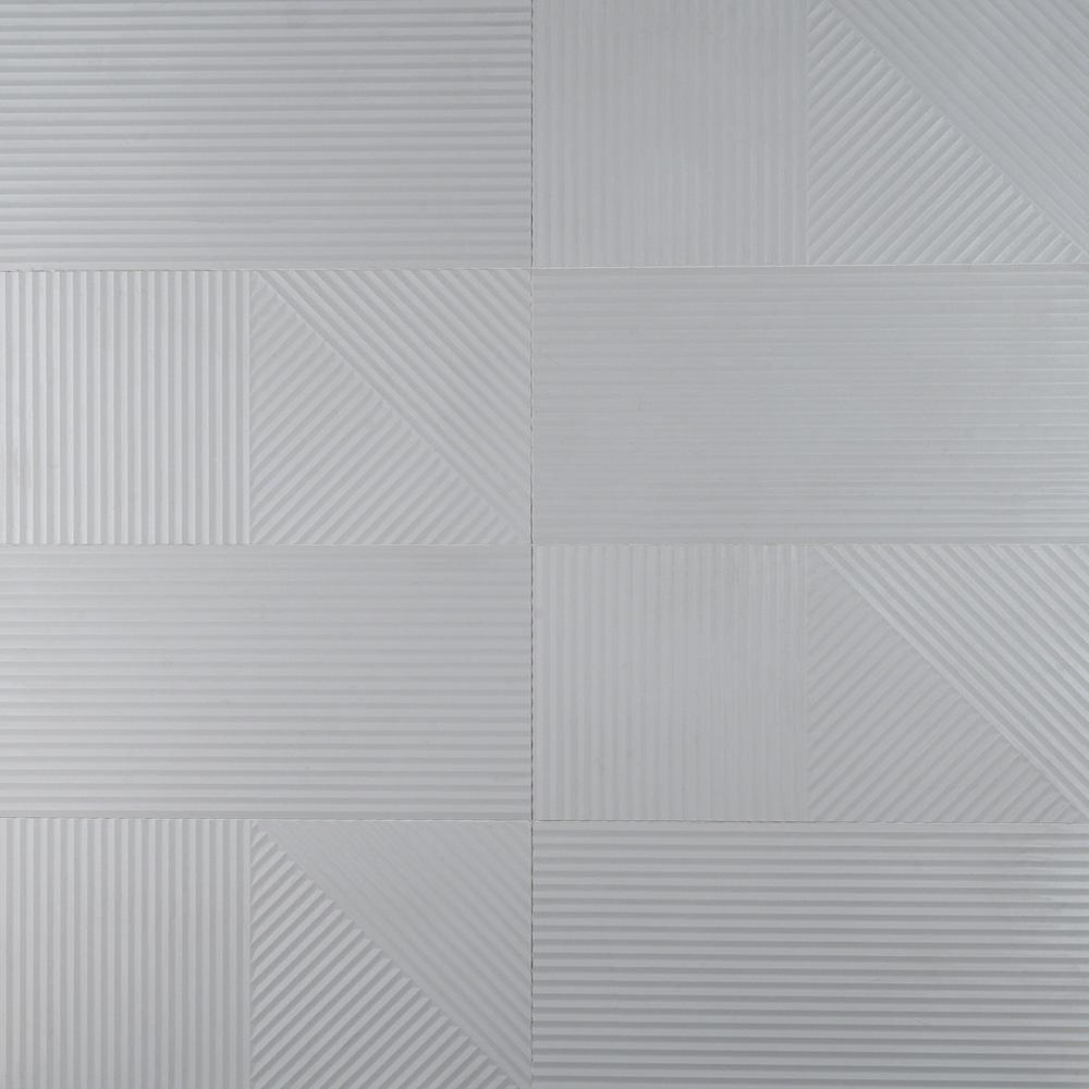 Ivy Hill Tile 12 in. x 24 in. Pierre Light Gray Porcelain Patterned Wall Tile