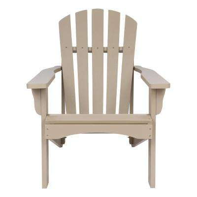 Rockport Taupe Gray Cedar Wood Adirondack Chair