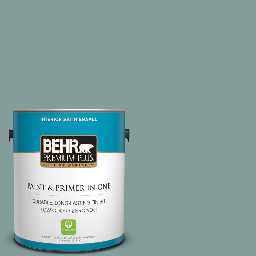1 gal. #PPU12-04 Agave Satin Enamel Zero VOC Interior Paint and