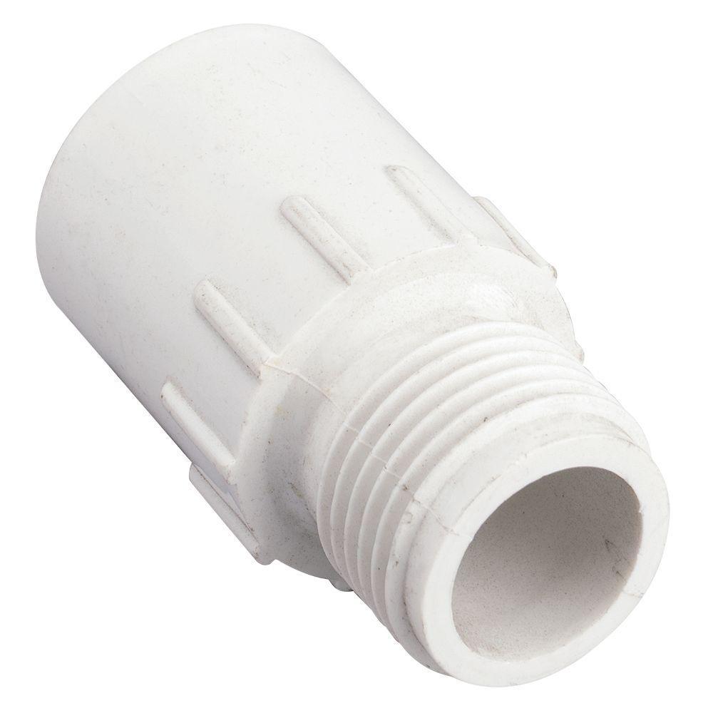 null 3/4 in. Slip x MHT PVC Hose Fitting