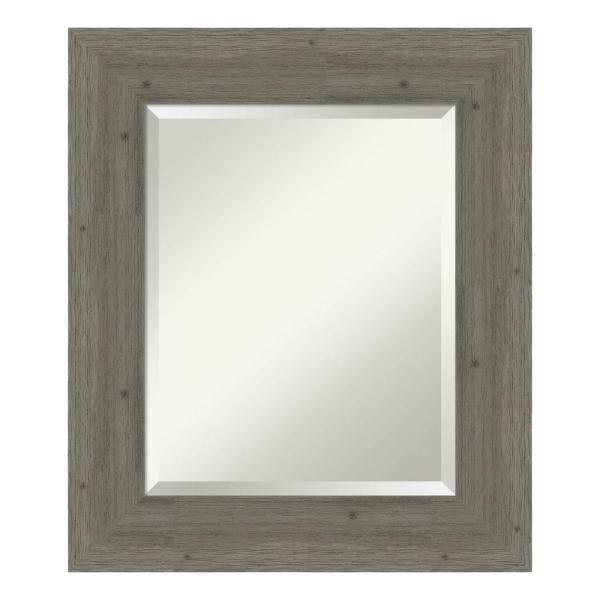 Amanti Art Fencepost Grey Bathroom Vanity Mirror DSW4094303
