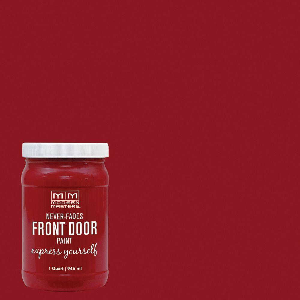 Modern Masters Express Yourself 1 qt. Satin Sophisticated Red Water-Based Front Door Paint