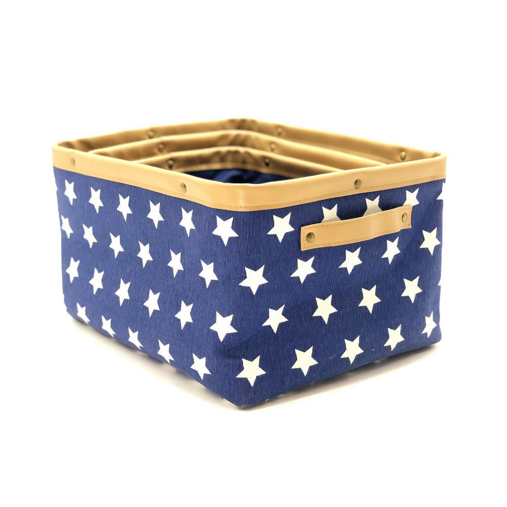 Canvas Material Foldable Storage Folding Folding Box Fabric Compartment Basket