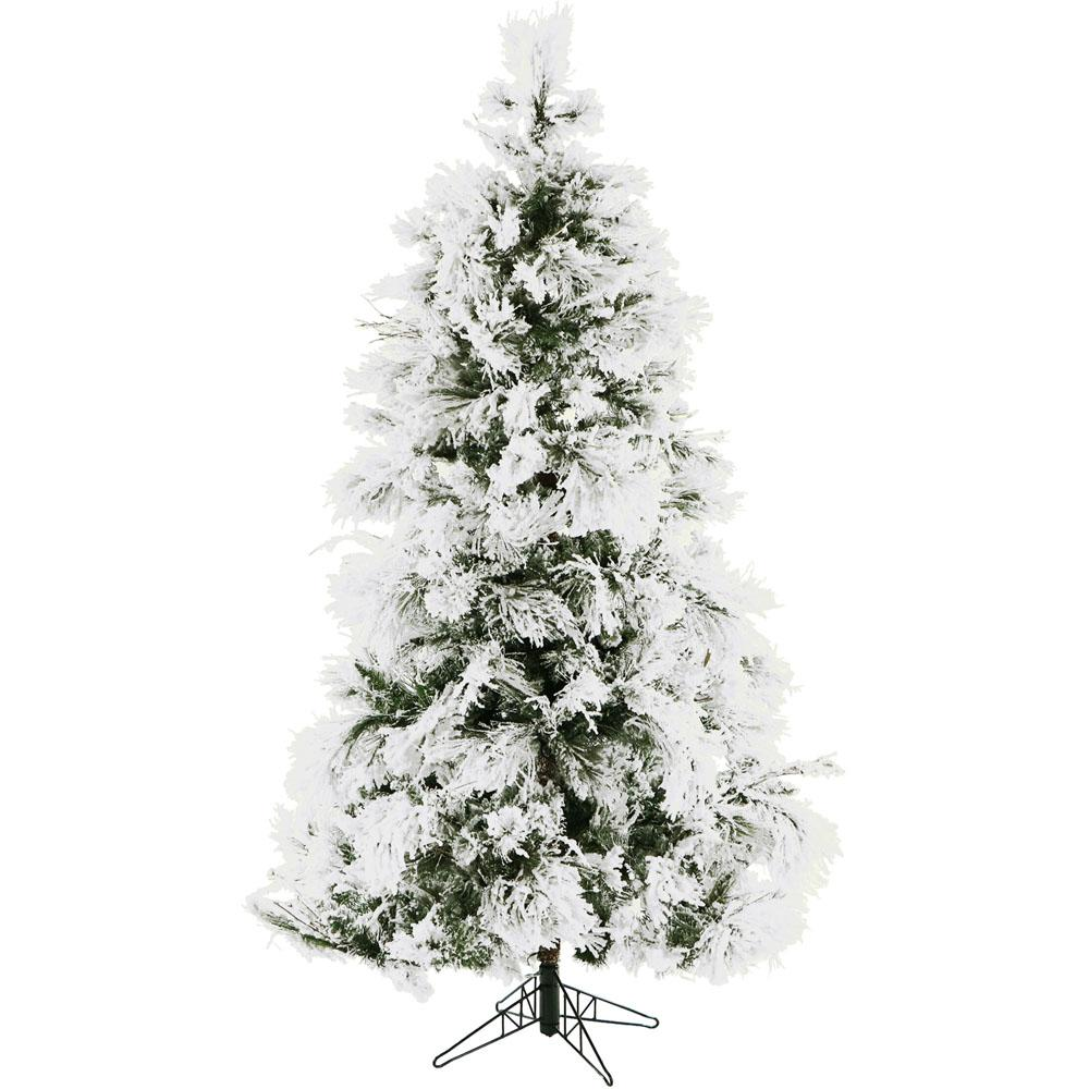 christmas time 65 ft frosted fir snowy artificial christmas tree