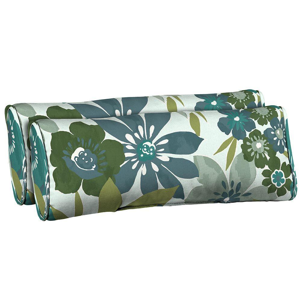 Hampton Bay Garden Grove Side Band Outdoor Lumbar Pillow