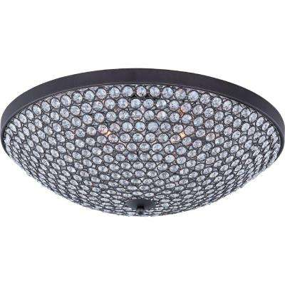 Glimmer 6-Light Bronze Flush Mount