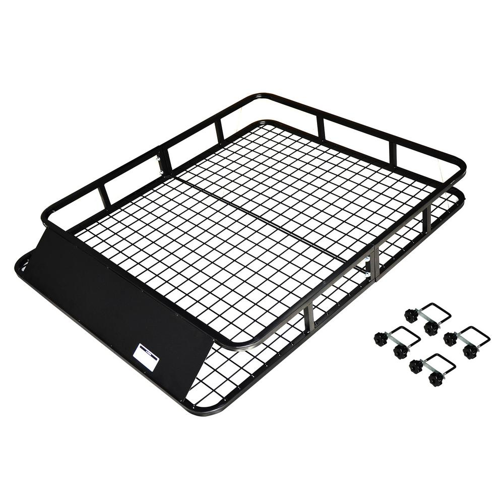165 lb. Heavy-Duty Steel Roof Cargo Basket with Wind Fairing