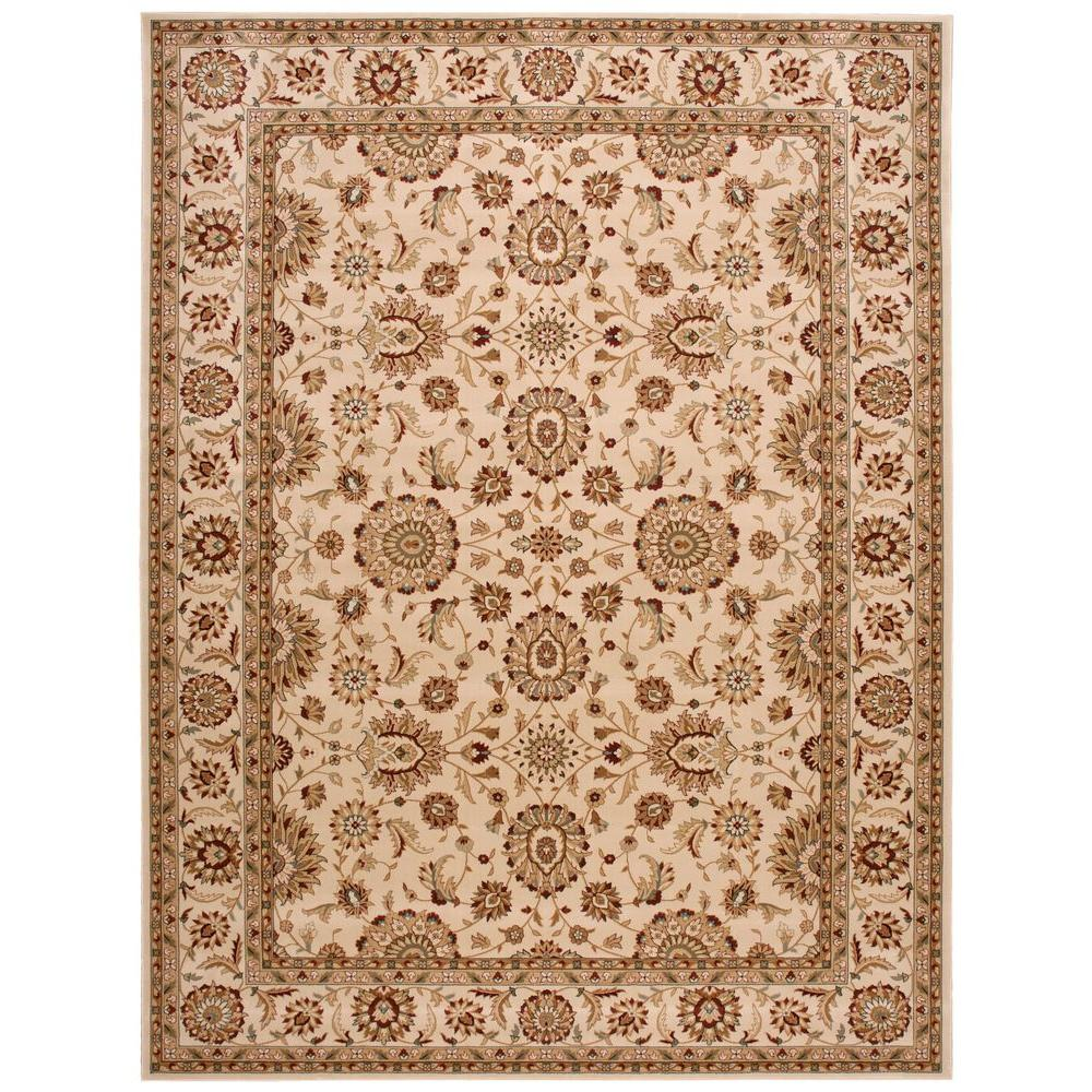 Nourison Persian Crown Suret Ivory 7 ft. 10 in. x 10 ft. 6 in. Area Rug