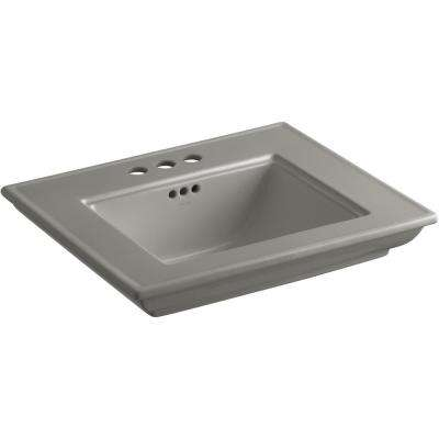 Memoirs Stately 24.5 in. x  4 in. Centerset Console Sink Basin in Cashmere