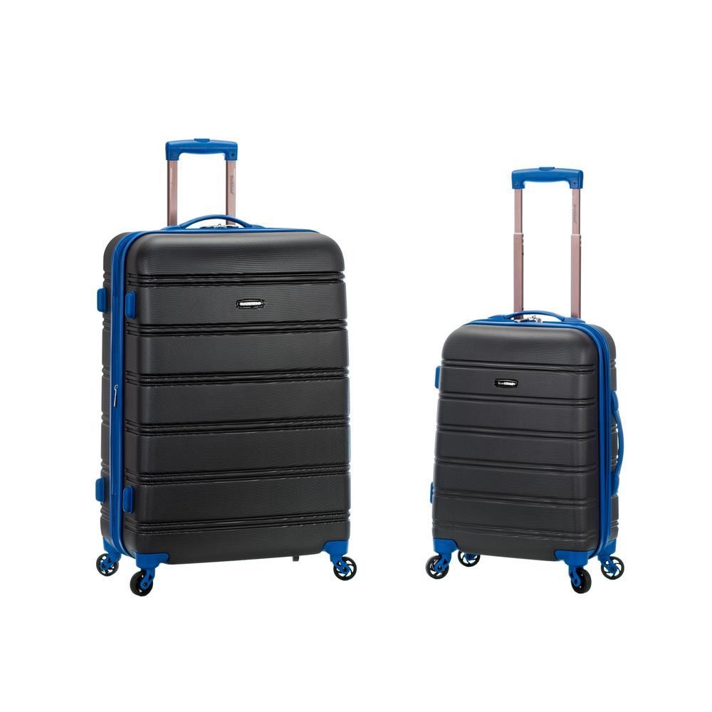 Rockland Melbourne Expandable 2-Piece Hardside Spinner Luggage Set, Grey