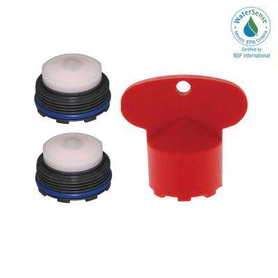 1.2 GPM Junior Size M21.5x1 PCA Cache Water-Saving Aerator with Key (2-Pack)