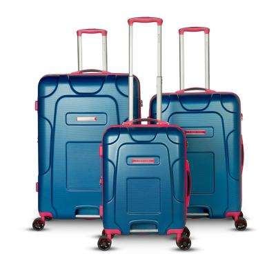 Enzo Collection 3-Piece Blue Hard-Side Spinner Luggage Set