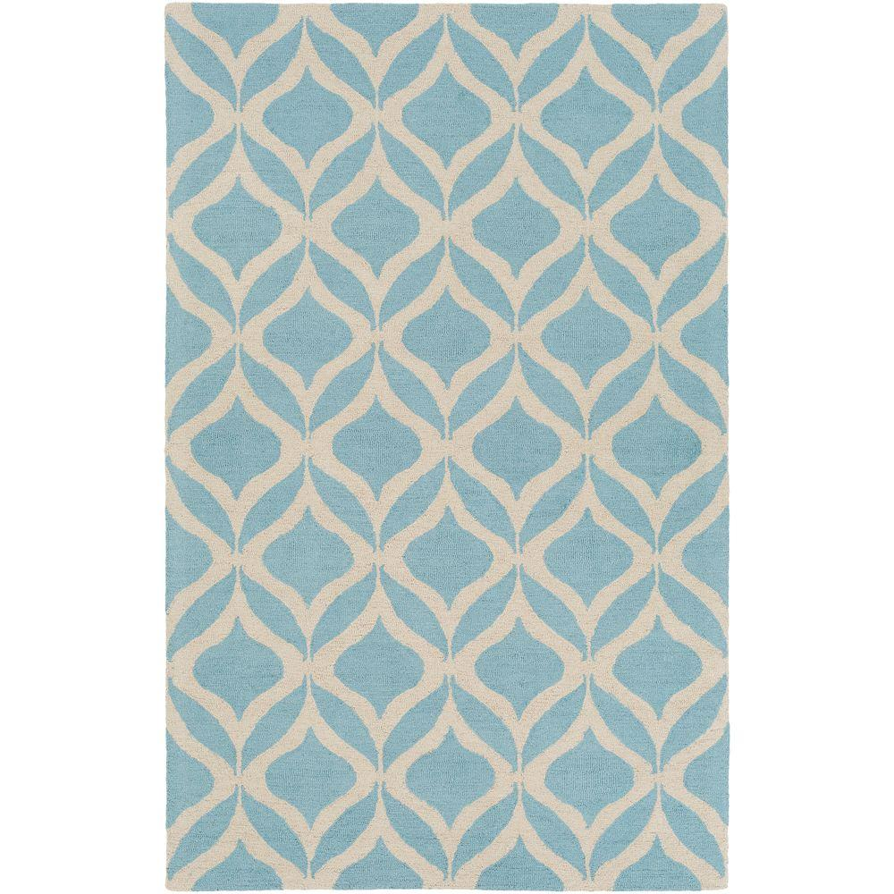 Impression Addy Blue 5 ft. x 8 ft. Indoor Area Rug