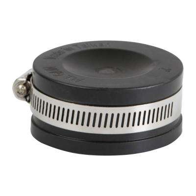 5 in  Pvc Flexible Pipe Cap with Stainless Steel Clamps