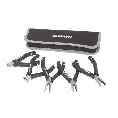 Mini Pliers Set with Bonus Pouch (5-Piece)