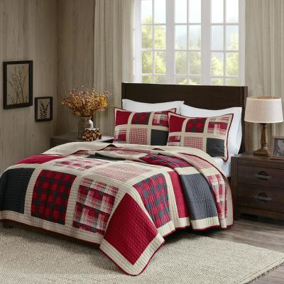Huntington 3-Piece Red Full/Queen Quilt Mini Set