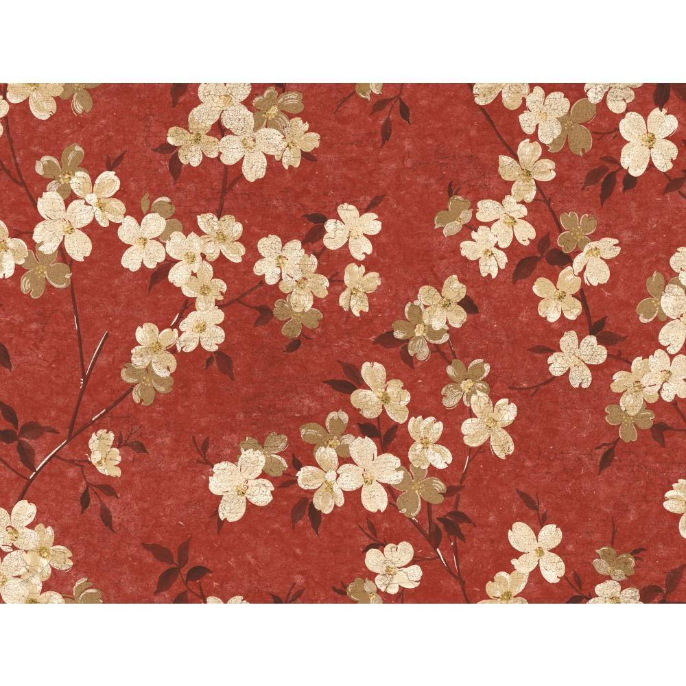 York Wallcoverings Dogwood Wallpaper Ww4445 The Home Depot