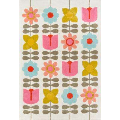 Flower Child Ivory 8 ft. x 10 ft. Indoor Area Rug