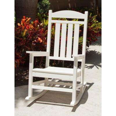 Presidential White Patio Rocker