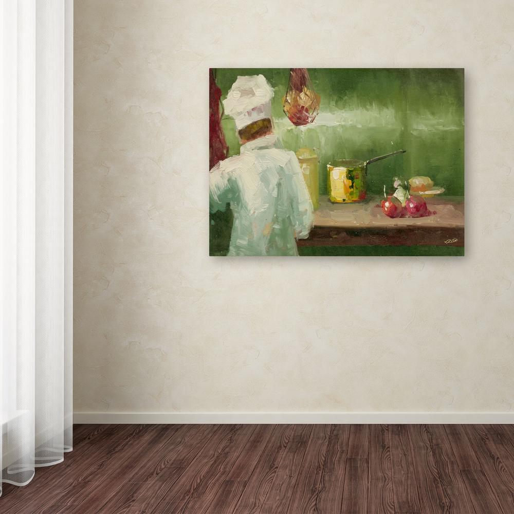 """24 in. x 32 in. """"What's Cooking"""" by Rio Printed Canvas"""
