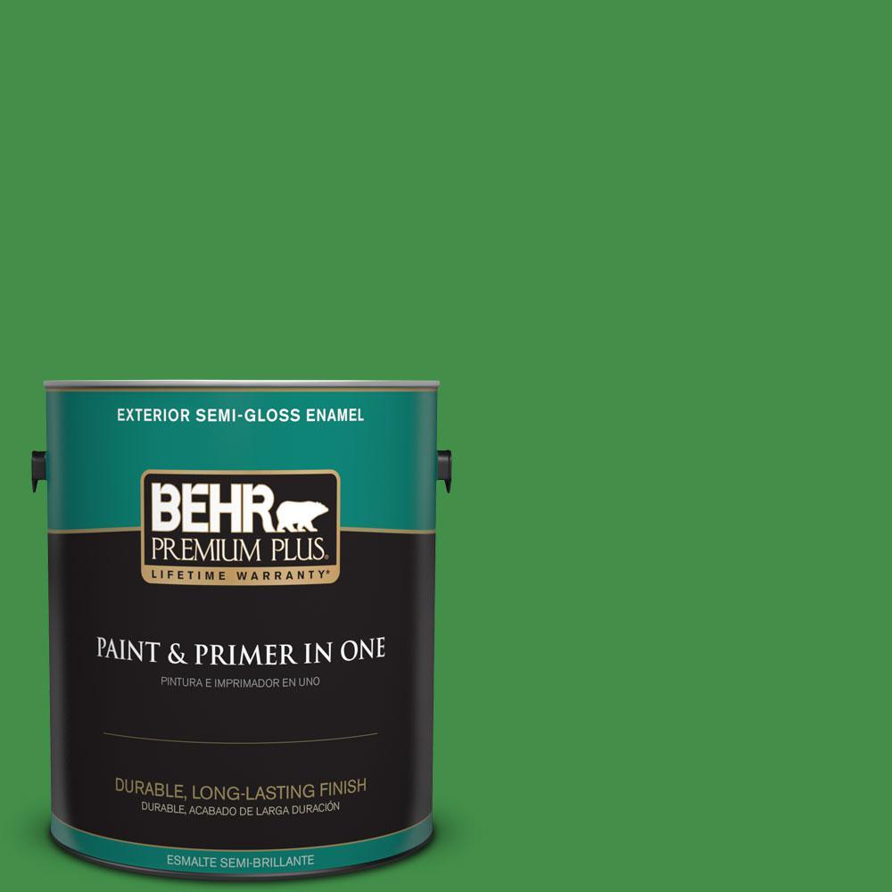 1-gal. #P390-7 Park Picnic Semi-Gloss Enamel Exterior Paint