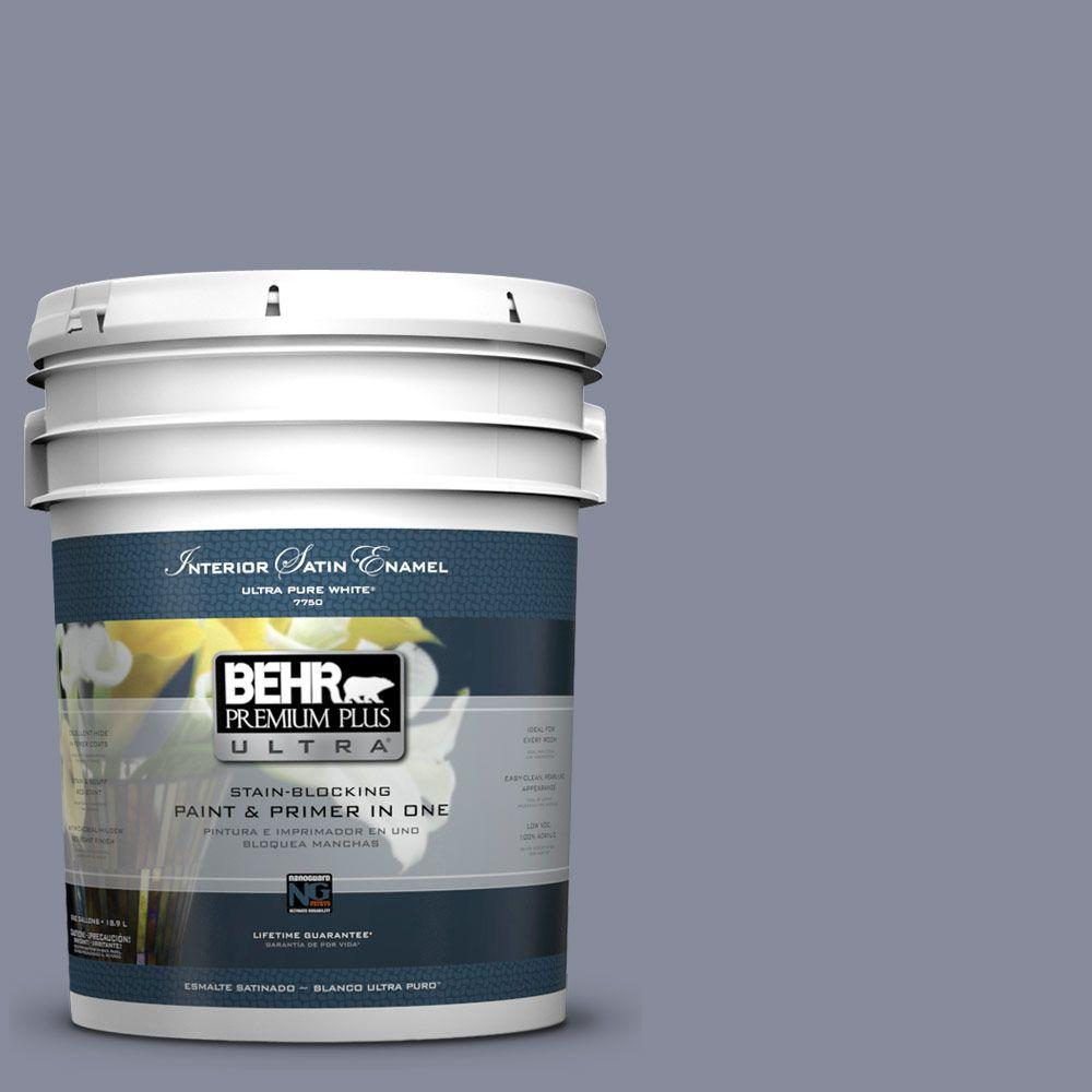 5 gal. #PPU15-8 River Tour Satin Enamel Interior Paint and Primer