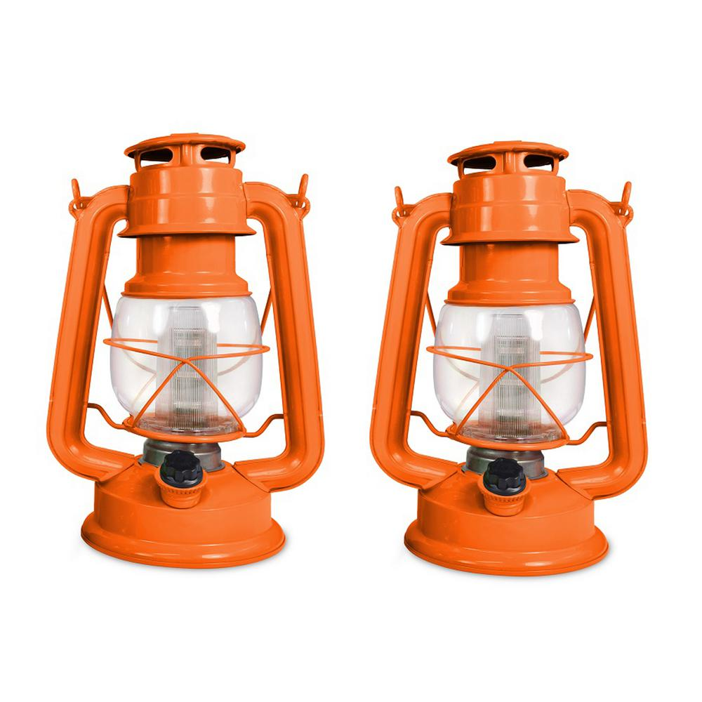 Tropical Collection Sunset Paradise Battery Operated LED Vintage Lantern (2-Pack)