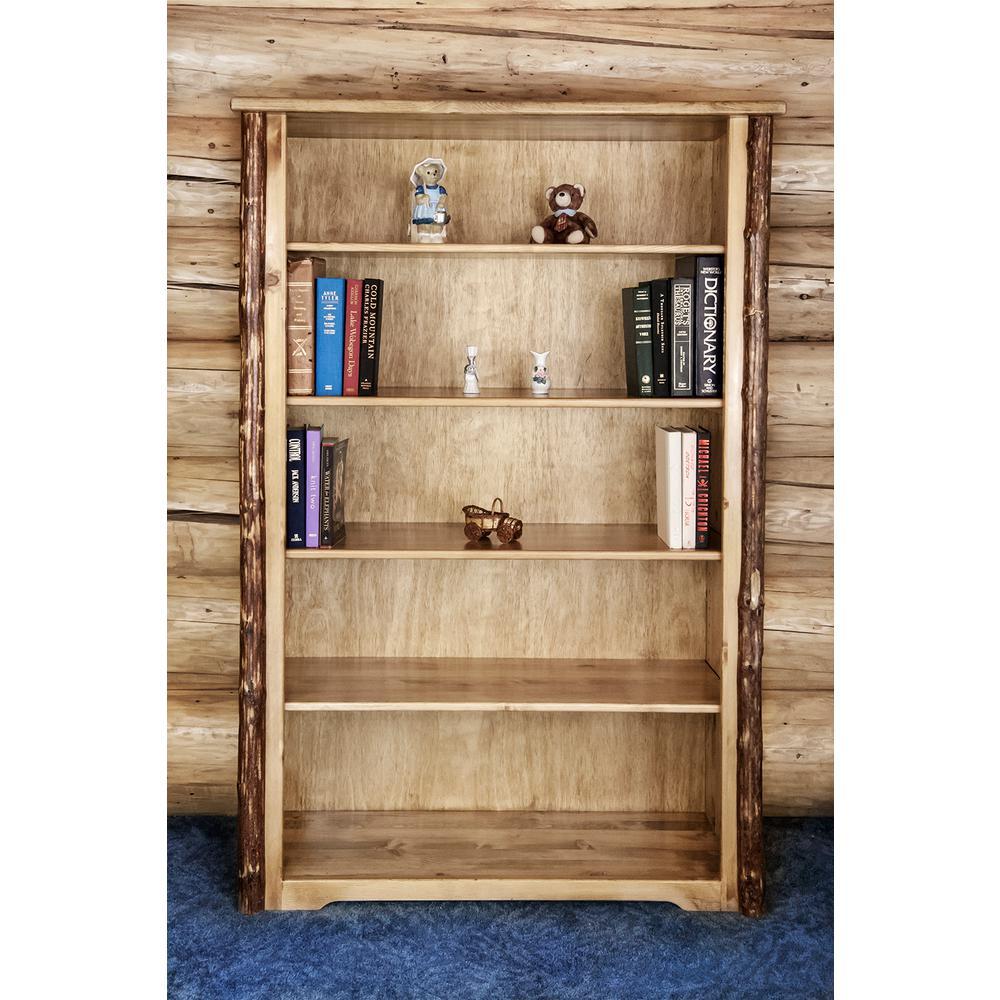 Glacier Country Medium Brown Puritan Pine Adjustable Open Bookcase
