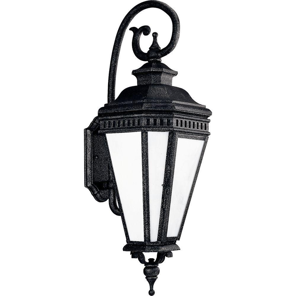 Progress Lighting Georgian Collection Gilded Iron 3-light Wall Lantern-DISCONTINUED