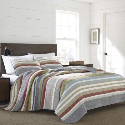 Salmon Ladder Multi-Colored King Quilt Set (3-Piece)