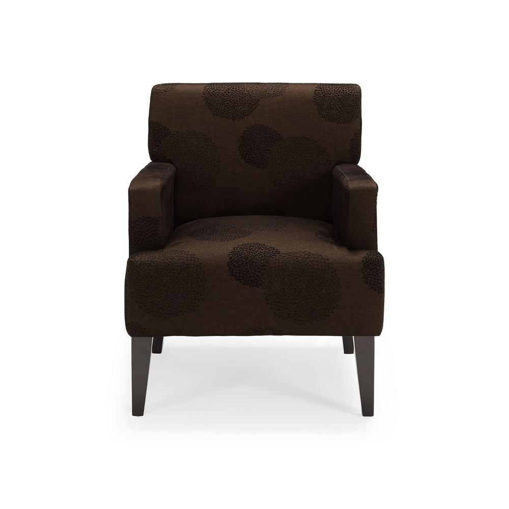 Tux Brown Sunflower Accent Chair