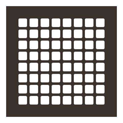 Square Series 8 in. x 8 in. Steel Grille, Oil Rubbed Bronze without Mounting Holes