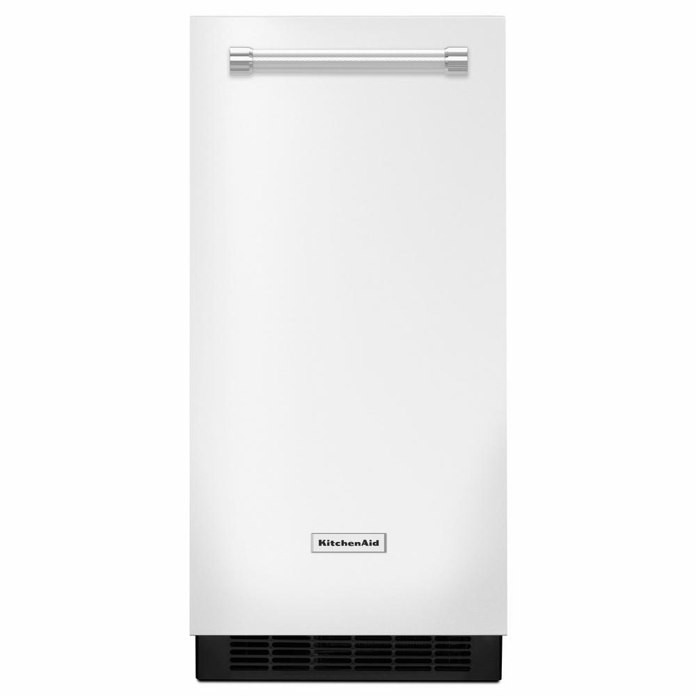 15 in. 50 lb. Built-In Ice Maker in White