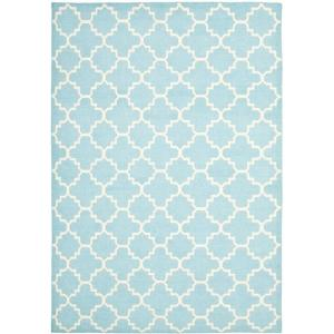 Safavieh Dhurries Light Blue Ivory 9 Ft X 12 Area Rug Dhu554b The Home Depot