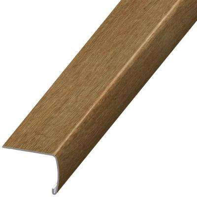 Natural Oak 7 mm Thick x 2 in. Wide x 94 in. Length Coordinating Vinyl Stair Nose Molding
