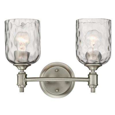 Basset 2-Light Dark Pewter Wall Mount Bath Light