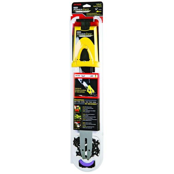 16 in. 56 Drive Link Chainsaw Chain and Bar Starter Kit - PowerSharp