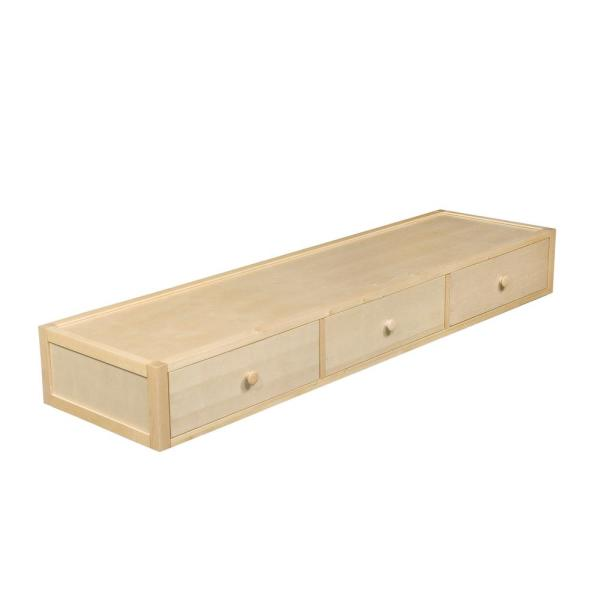 Undefined Under Bed 75 In X 10 Natural Pull Out Drawer