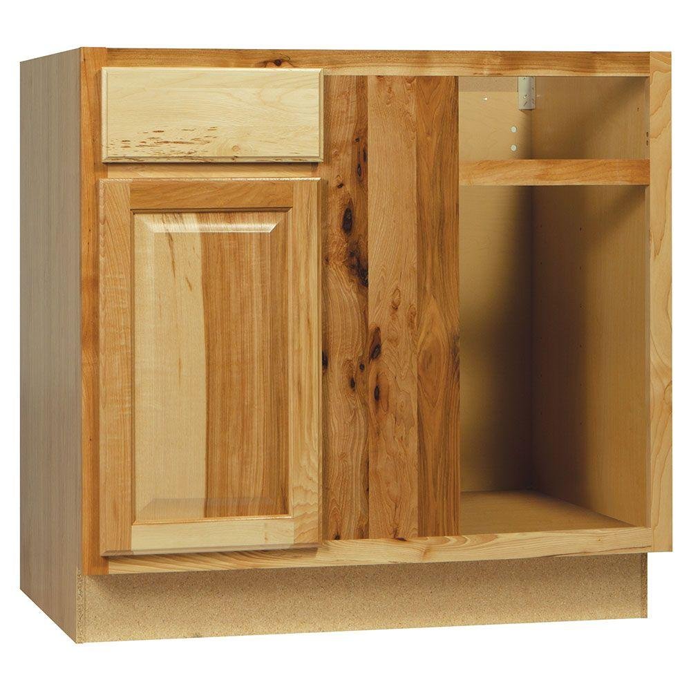 Interior Blind Kitchen Cabinet hampton bay assembled 36x34 5x24 in blind base corner kitchen cabinet natural