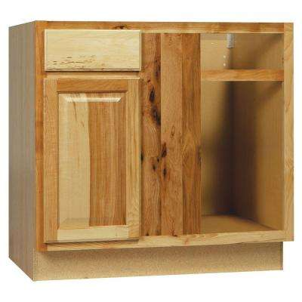 Hampton Assembled 36x34.5x24 in. Blind Base Corner Kitchen Cabinet in Natural Hickory