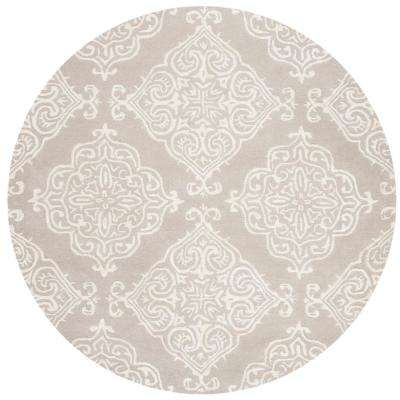 Glamour Silver/Ivory 6 ft. x 6 ft. Round Area Rug