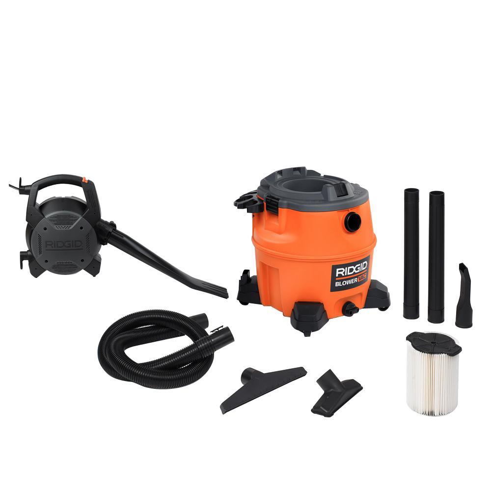 16 Gal. 6.5-Peak HP Wet Dry Vac with Detachable Blower