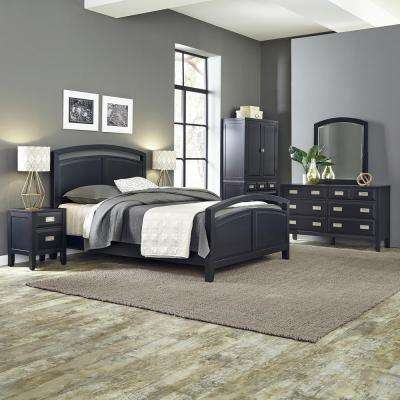 Prescott 5 Piece Black Queen Bedroom Set