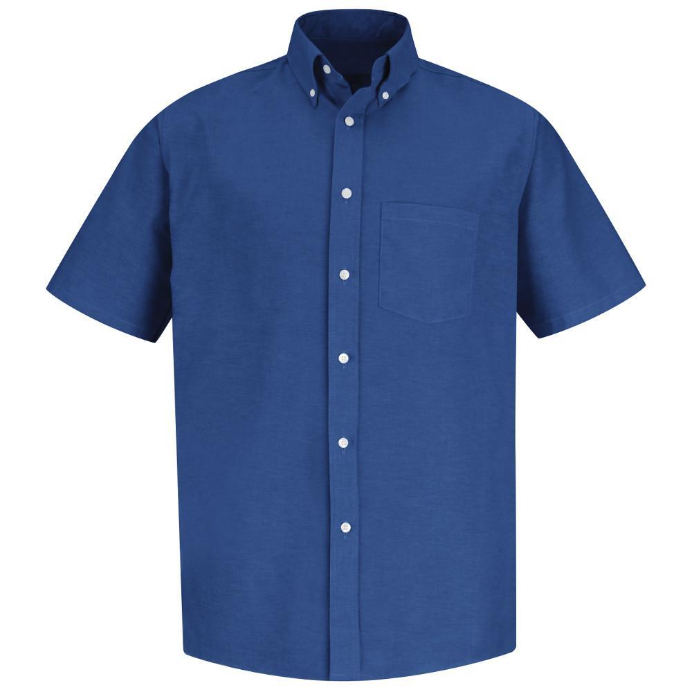 Red Kap Mens Size 185 Tall French Blue Executive Oxford Dress Shirt