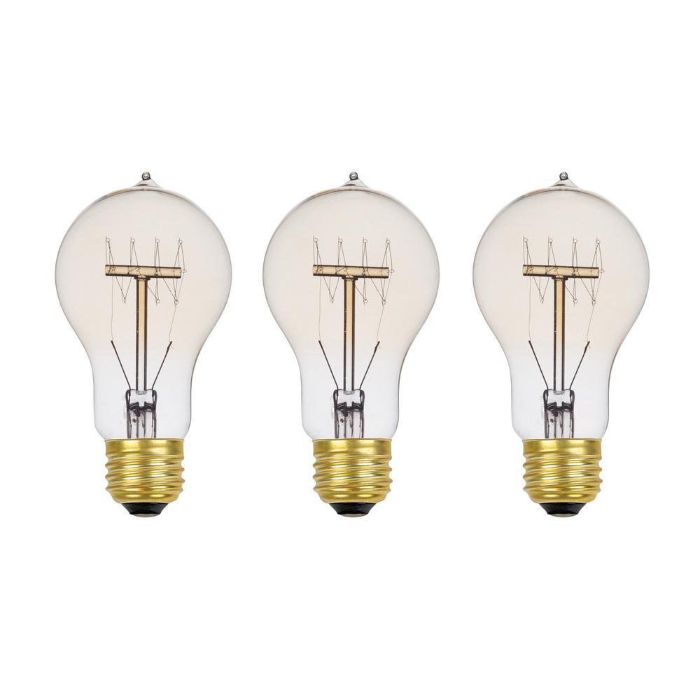 Globe Electric 60 Watt Incandescent A19 Vintage Quad Loop Medium Base Light Bulb Vintage Style