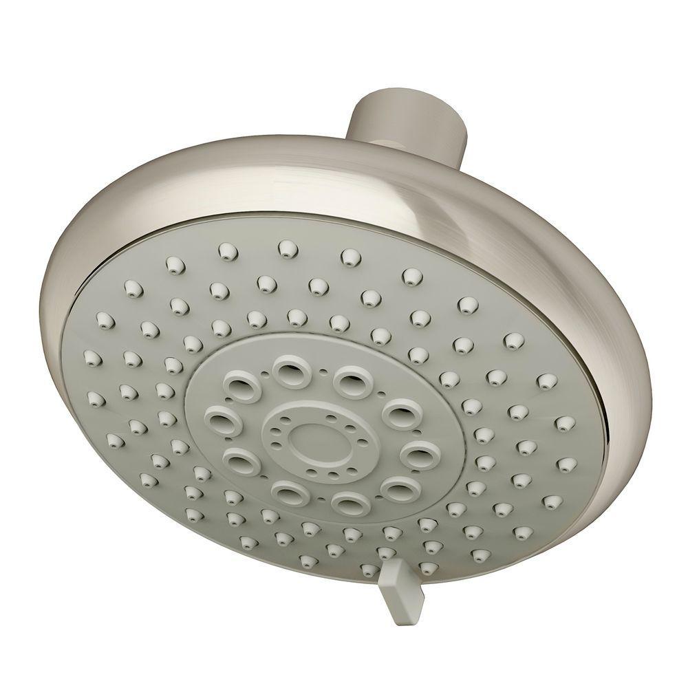Symmons Naru 3-Spray 5 in. Showerhead in Satin Nickel