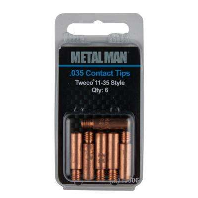 11-35 .035 in. Contact Tip 6-Pack