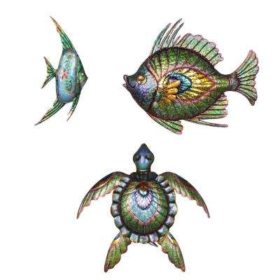 Sea Life Iron Outdoor Wall Art