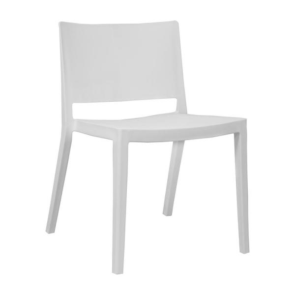 Mod Made Elio Modern White Plastic Dining Side Chair (Set of 2)